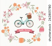 the vintage flower wreath with... | Shutterstock .eps vector #262805780
