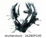 woman portrait .abstract... | Shutterstock . vector #262809140