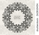 abstract lace pattern... | Shutterstock .eps vector #262810454