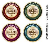 four gold best quality badges... | Shutterstock .eps vector #262811138