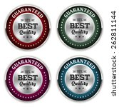 four silver best quality badges ... | Shutterstock .eps vector #262811144