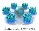 network of social groups  | Shutterstock . vector #262812209