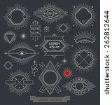 vector set of line design... | Shutterstock .eps vector #262812644