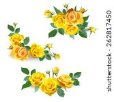 Set Of Yellow Roses. Garland O...