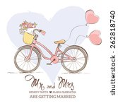 wedding invitation   a bicycle... | Shutterstock .eps vector #262818740