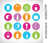 packaging icons set | Shutterstock .eps vector #262822799