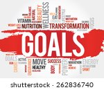 goals word cloud  fitness ... | Shutterstock .eps vector #262836740