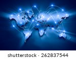 media blue background image... | Shutterstock . vector #262837544