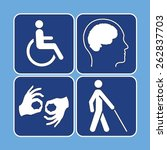 Vector Set Of Disability...