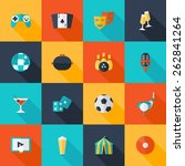 entertaining icons flat set... | Shutterstock .eps vector #262841264