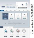 business professional website... | Shutterstock .eps vector #262843283