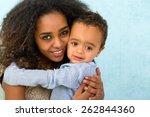 little 18 month old african boy ...   Shutterstock . vector #262844360