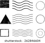 set of grunge rubber texture... | Shutterstock .eps vector #262846604