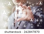 business button upload... | Shutterstock . vector #262847870