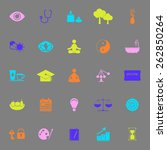 meditation color icons on gray
