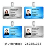 user id card realistic set with ... | Shutterstock .eps vector #262851386