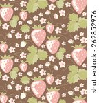 strawberry seamless pattern ... | Shutterstock .eps vector #262852976