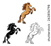 Coloring Book Horse Stand...