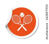 tennis racket and ball icon. | Shutterstock .eps vector #262857953