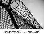 Prison Fence In Black And Whit...