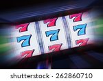 Stock photo triple seven slot machine win casino classic slot machine concept photography 262860710