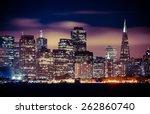panorama of san francisco at... | Shutterstock . vector #262860740