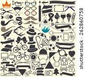 vector illustrations. hipster...   Shutterstock .eps vector #262860758