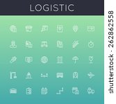 vector logistic line icons | Shutterstock .eps vector #262862558