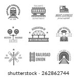 railway corporation railroad... | Shutterstock .eps vector #262862744