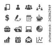 business concept icon set 2 ... | Shutterstock .eps vector #262862969