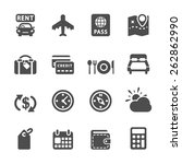 travel and vacation icon set 6  ... | Shutterstock .eps vector #262862990