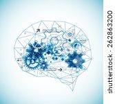 abstract digital brain... | Shutterstock .eps vector #262863200