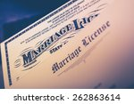 marriage license documents... | Shutterstock . vector #262863614