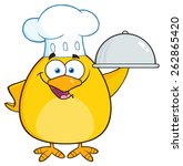 Chef Yellow Chick Cartoon...