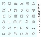 education icons  simple and... | Shutterstock .eps vector #262869890