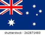 australia flag | Shutterstock .eps vector #262871483