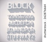 vector 3d font with shadow | Shutterstock .eps vector #262876664