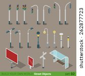 flat 3d isometric high quality... | Shutterstock .eps vector #262877723