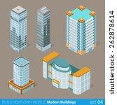 architecture modern business...   Shutterstock .eps vector #262878614