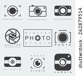 black photography icon set... | Shutterstock .eps vector #262879514