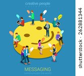chat messaging communication... | Shutterstock .eps vector #262881344