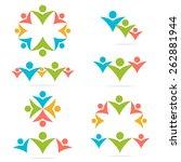 social network  teamwork ... | Shutterstock .eps vector #262881944