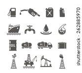 petroleum industry black icon... | Shutterstock .eps vector #262885970
