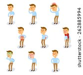 sick characters set with... | Shutterstock .eps vector #262885994