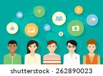 concept design of young people... | Shutterstock . vector #262890023