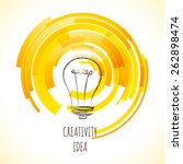 vector light bulb icon with