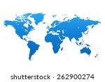 world map | Shutterstock .eps vector #262900274