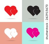 two hearts  icon with four...   Shutterstock .eps vector #262915670
