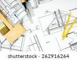 construction house. repair work.... | Shutterstock . vector #262916264