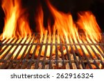 hot empty barbecue charcoal... | Shutterstock . vector #262916324